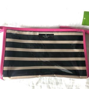 Brand New Kate Spade Striped Cosmetic Bag